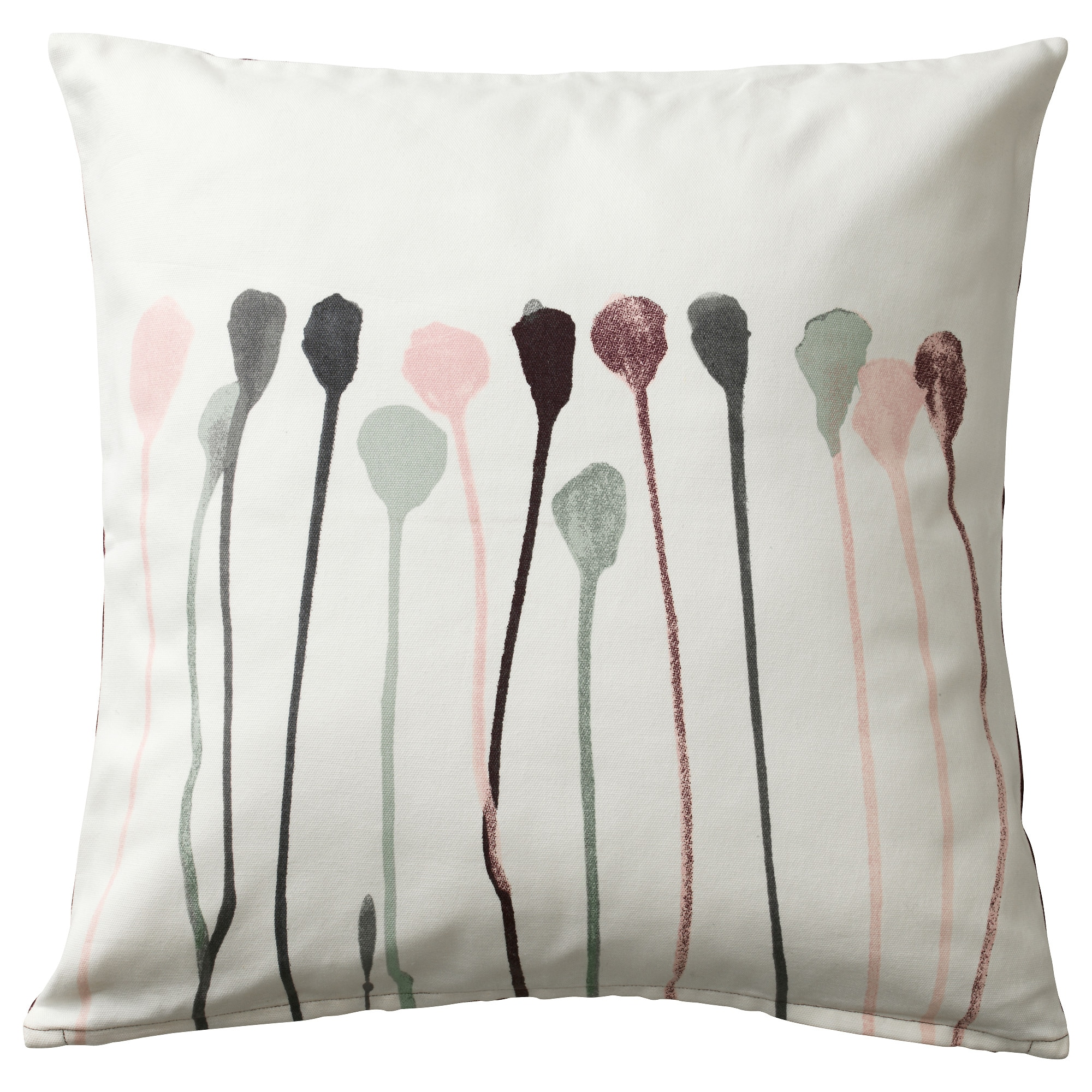 SKOGSNVA cushion cover, beige, pink Length: 20