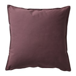GURLI, Cushion cover, dark brown-red