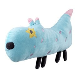 SAGOSKATT soft toy, dog, blue Length: 30 cm