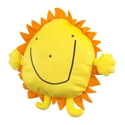 SAGOSKATT soft toy, sun, yellow Length: 17 cm