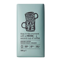 PÅTÅR ground coffee, medium roast, organic, UTZ certified Net weight: 1 lb 2 oz Net weight: 500 g