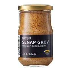SENAP GROV, Whole-grain mustard, organic