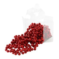 VINTER 2016 garland, pearls red Length: 5 m