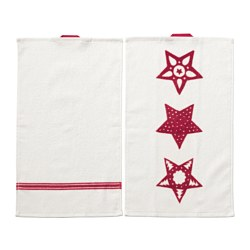 "VINTER 2016 guest towel, white, red Length: 20 "" Width: 12 "" Area: 1.61 sq feet Length: 50 cm Width: 30 cm Area: 0.15 m²"