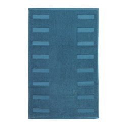 BLANKSJÖN bath mat, green-blue