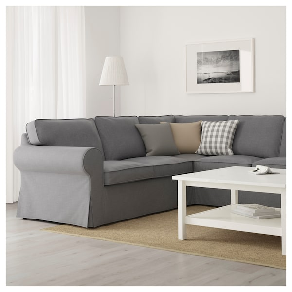 ektorp ecksofa 4 sitzig nordvalla dunkelgrau ikea. Black Bedroom Furniture Sets. Home Design Ideas