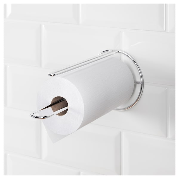 Kitchen Roll Holder Torkad Silver Colour