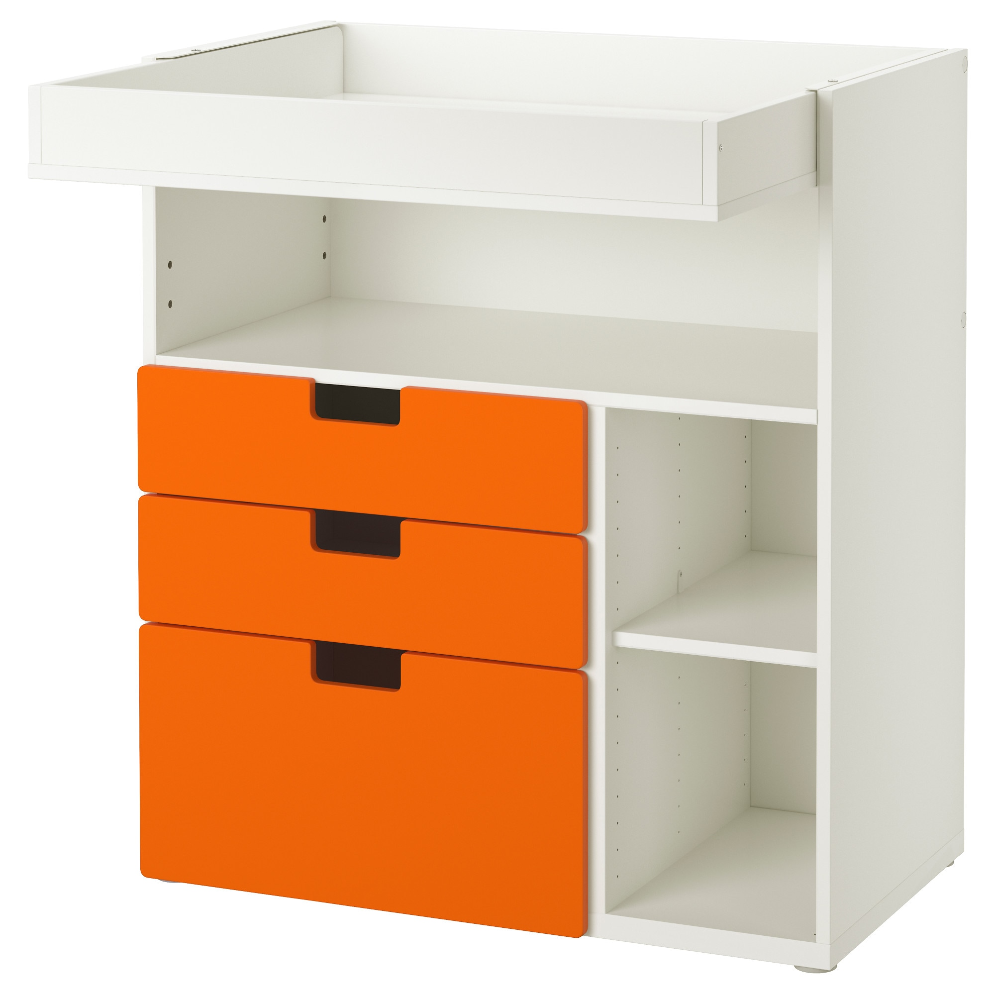 baby changing tables  ikea - stuva changing table with  drawers white orange width
