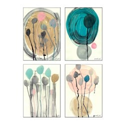"BILD poster, set of 4, Plant Kingdom Width: 7 ¾ "" Height: 9 ¾ "" Width: 20 cm Height: 25 cm"
