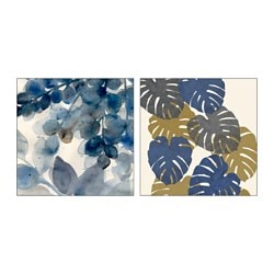 TVILLING poster, set of 2, A study in leaves Width: 50 cm Height: 50 cm