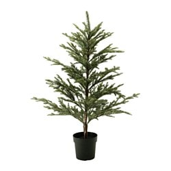 FEJKA artificial potted plant, in/outdoor, Christmas tree