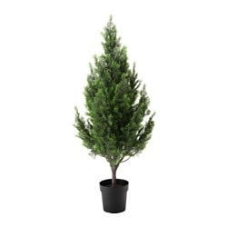 FEJKA artificial potted plant, in/outdoor, cypress Diameter of plant pot: 21 cm Height of plant: 130 cm