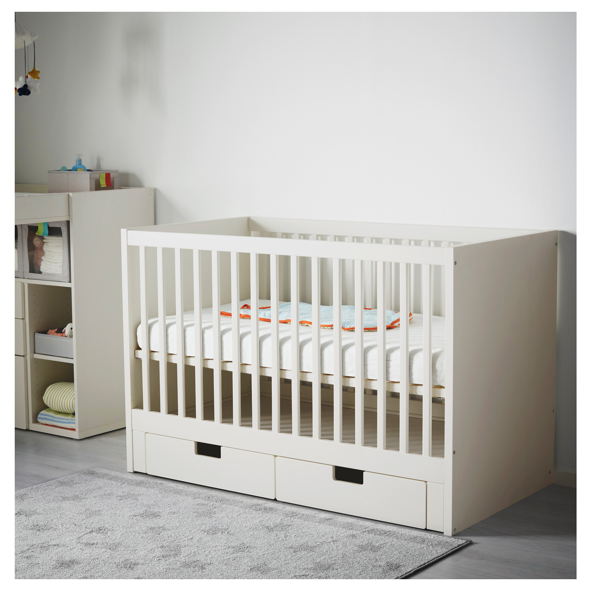 with for size baby attaches bed cute of side furniture full cribs brown bedroom mini drawers convertible boy babies white to crib that attached clearance
