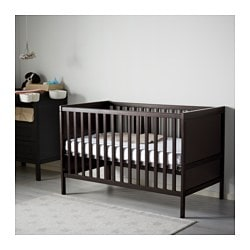 sundvik crib black brown 27 1 2x52 ikea. Black Bedroom Furniture Sets. Home Design Ideas