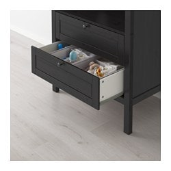 SUNDVIK Changing Table/chest Of Drawers, Black Brown