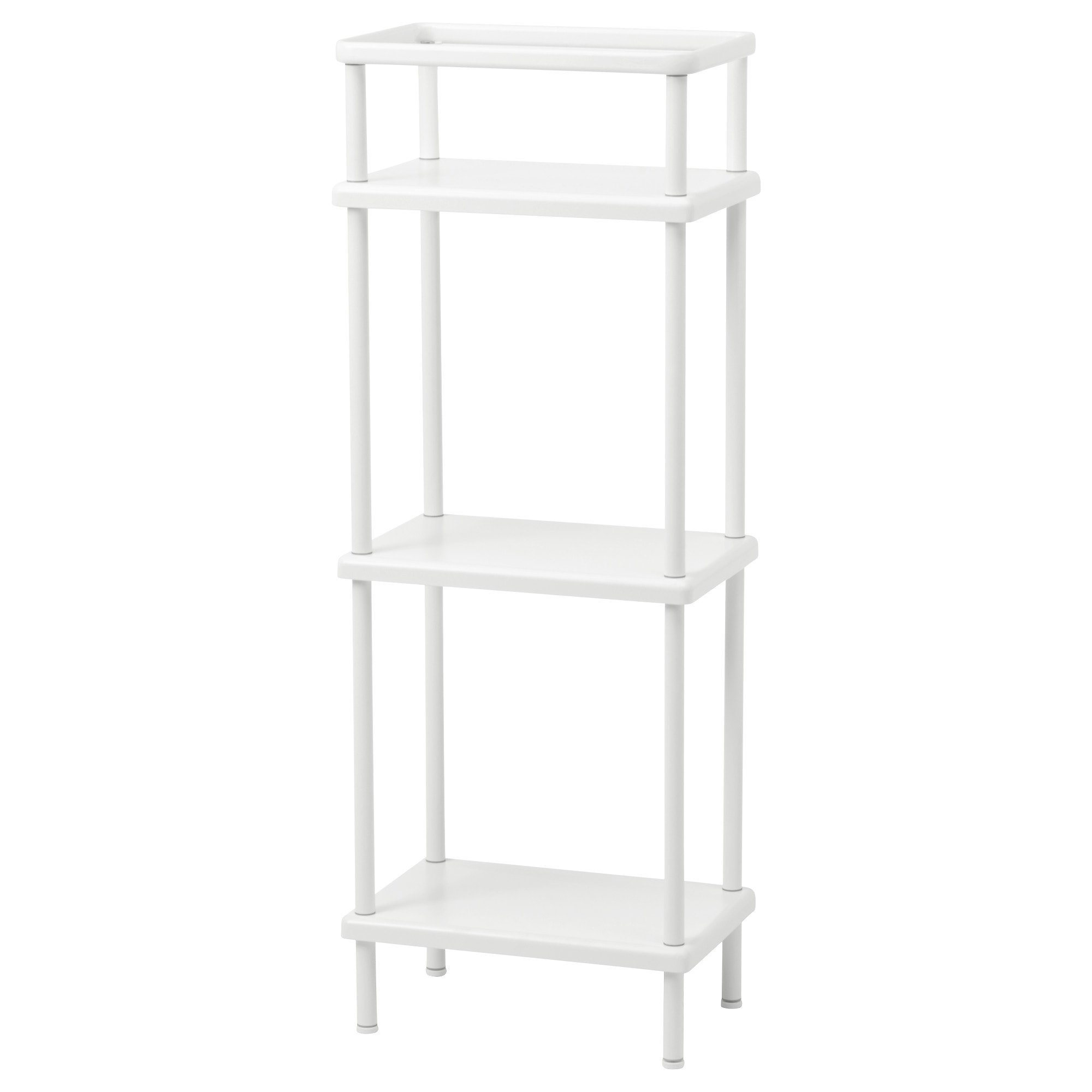 Dynan Shelf Unit With Towel Rail White Width 15 3 4 Depth