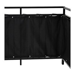 DYNING balcony privacy screen, black Length: 250 cm Height: 80 cm