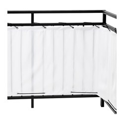 DYNING balcony privacy screen, white Length: 250 cm Height: 80 cm