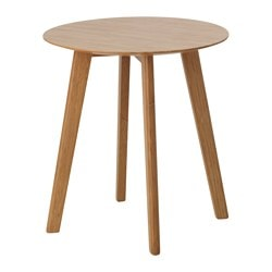 FINEDE side table, bamboo Diameter: 40 cm Free height under furniture: 46 cm Height: 47 cm