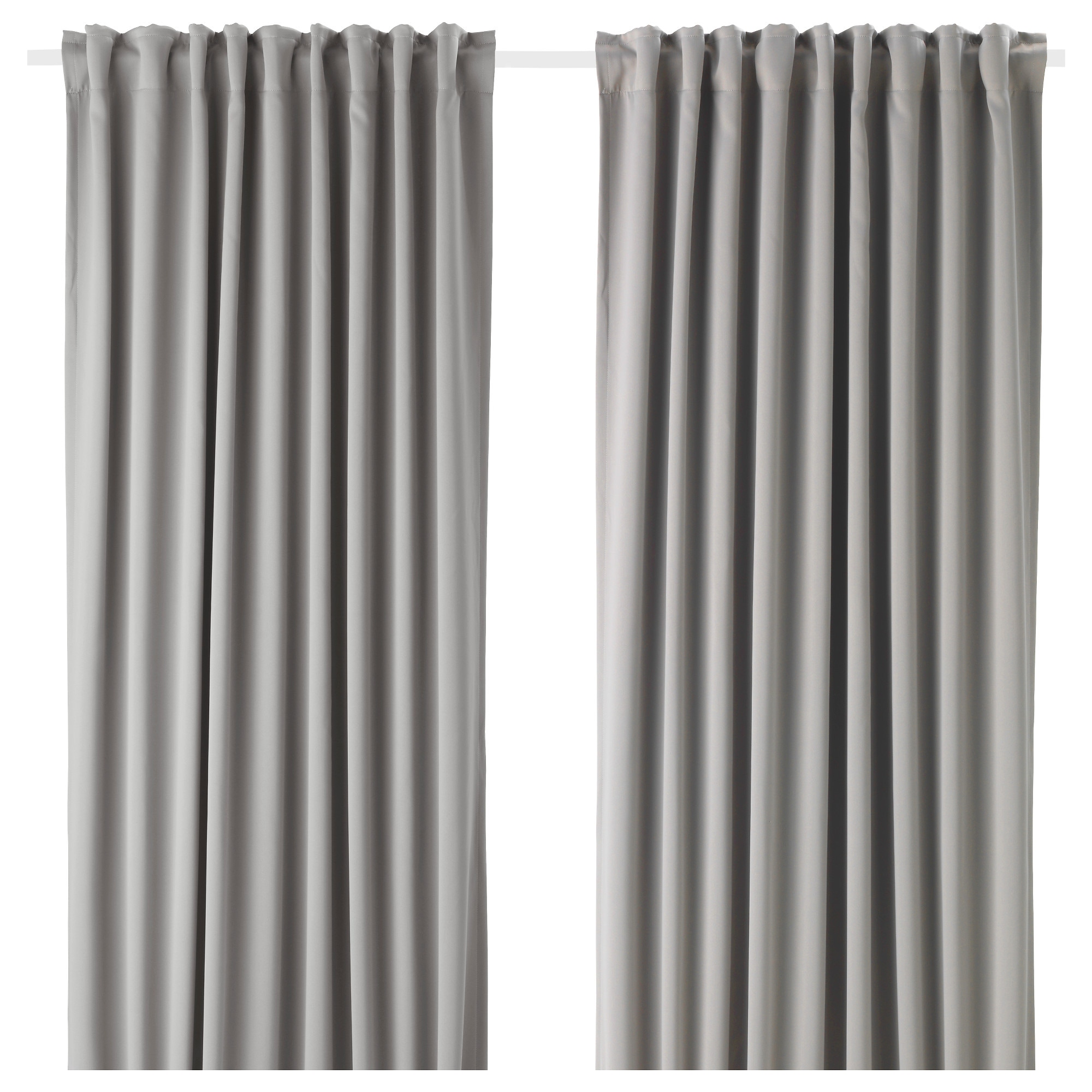 White living room curtains - Majgull Blackout Curtains 1 Pair Gray Length 98 Width 57