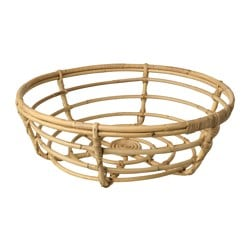 JASSA basket, rattan Height: 16 cm Diameter: 47 cm