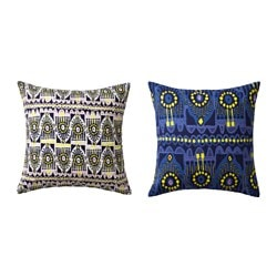 JASSA cushion cover, assorted patterns, blue Length: 50 cm Width: 50 cm