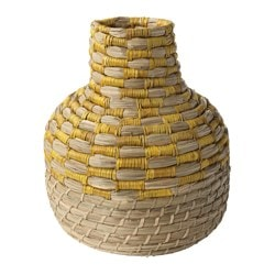 "JASSA decorative vase, seagrass Height: 14 ½ "" Height: 37 cm"