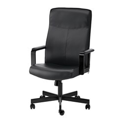 "MILLBERGET swivel chair, Bomstad black Tested for: 242 lb 8 oz Depth: 25 5/8 "" Max. height: 48 3/8 "" Tested for: 110 kg Depth: 65 cm Max. height: 123 cm"