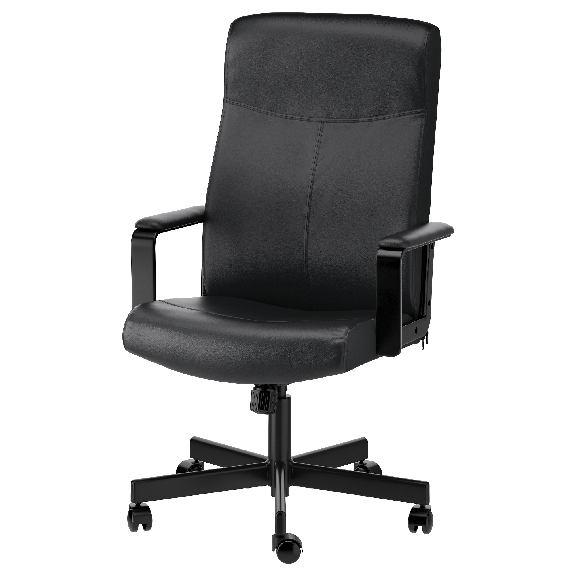 White Leather Office Chair Ikea MILLBERGET Swivel Chair Bomstad Black Tested For 242 Lb 8 Oz Depth 25 White Leather Office Ikea U