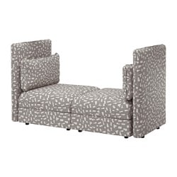 VALLENTUNA loveseat, Funnarp black/beige