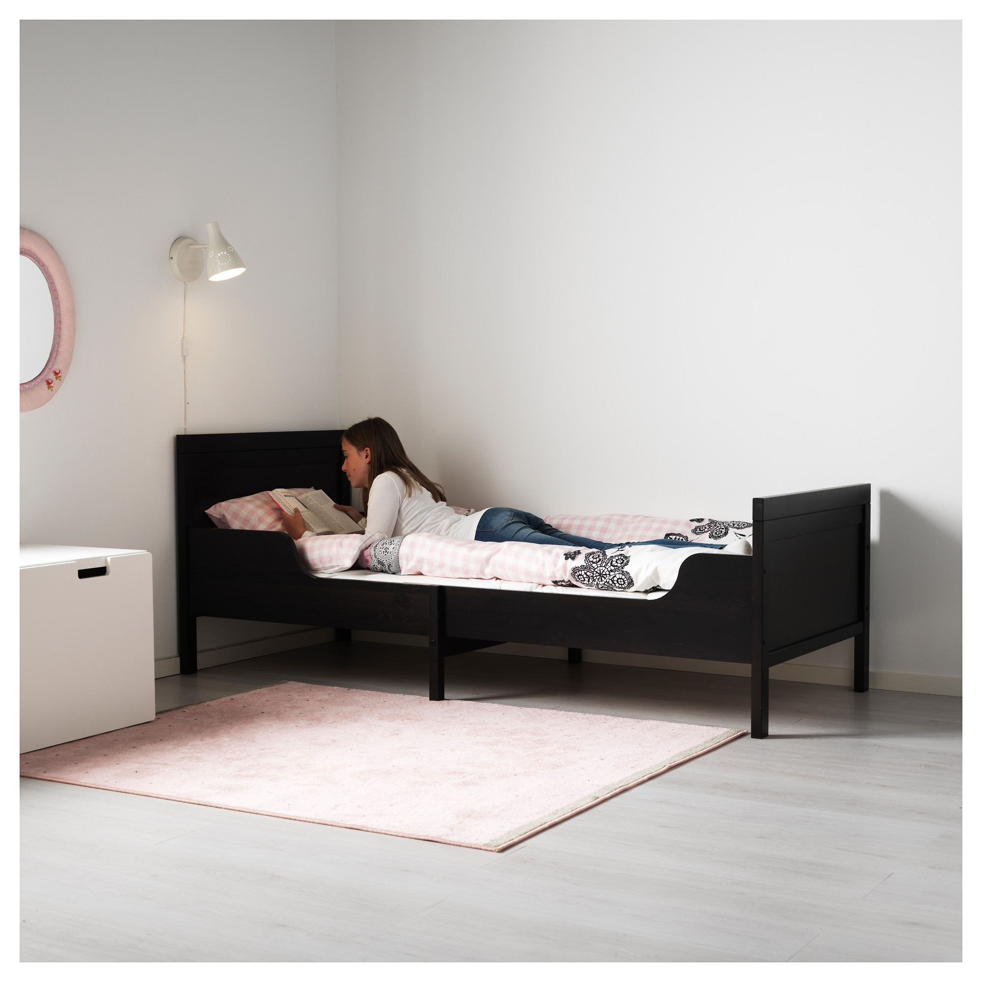 SUNDVIK Ext bed frame with slatted bed base IKEA