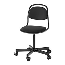"ÖRFJÄLL child's desk chair, black, Vissle black Tested for: 243 lb Width: 20 7/8 "" Depth: 20 7/8 "" Tested for: 110 kg Width: 53 cm Depth: 53 cm"