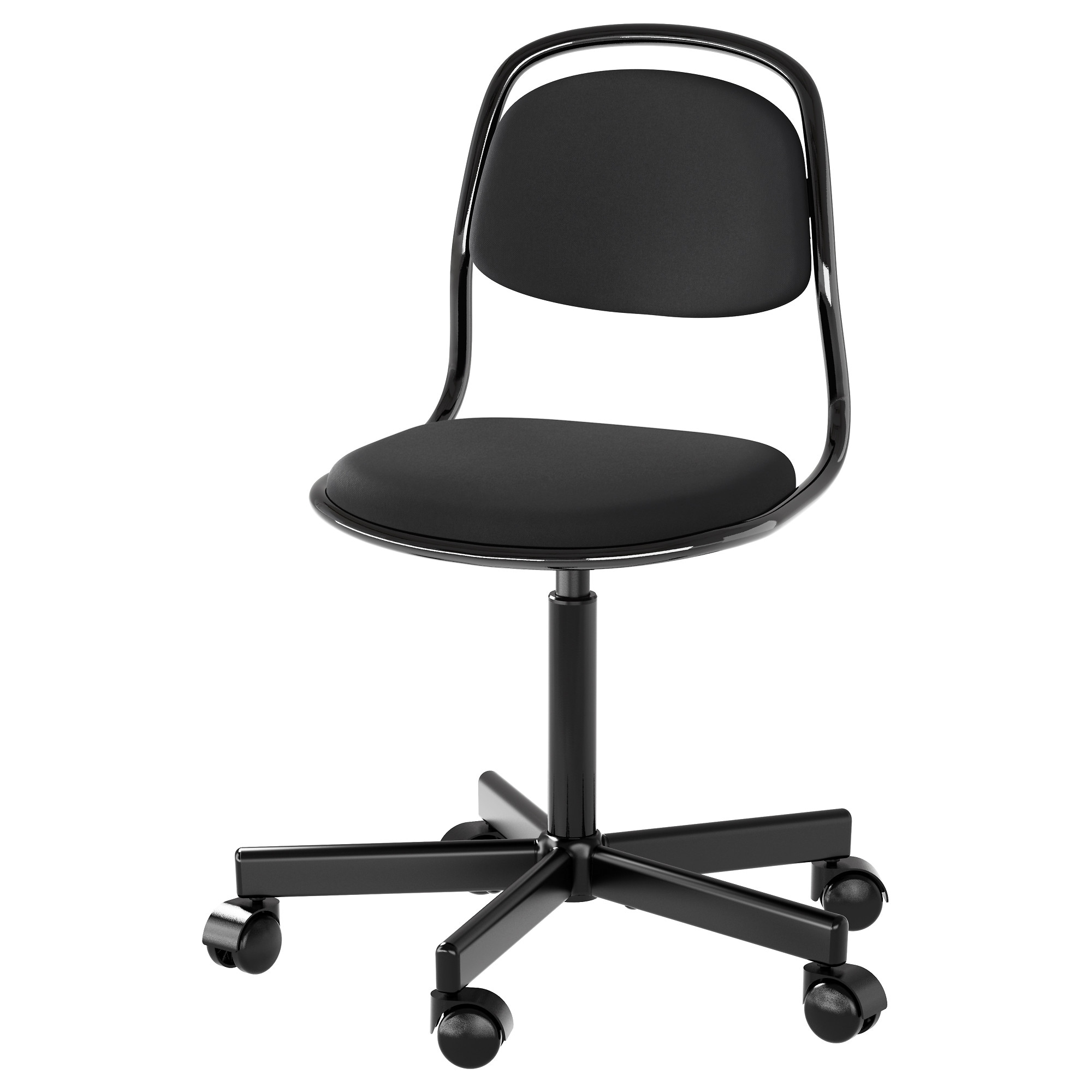 Black and white office chair -  Rfj Ll Junior Chair Black Vissle Black Tested For 243 Lb Width 20