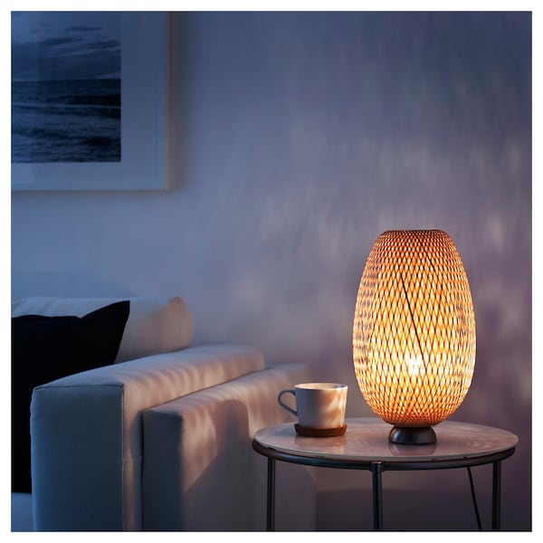 Swell Table Lamp Boja Nickel Plated Bamboo Rattan Download Free Architecture Designs Meptaeticmadebymaigaardcom
