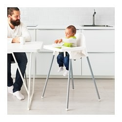Antilop High Chair With Tray White Silver Color 22 99