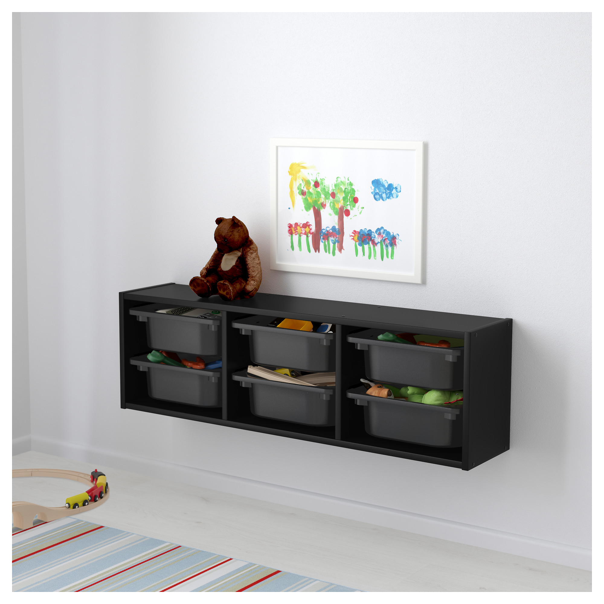 TROFAST Wall storage black white IKEA