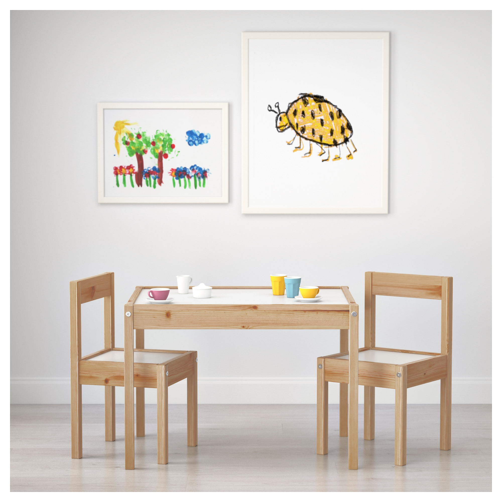 "L""TT Children s table and 2 chairs IKEA"