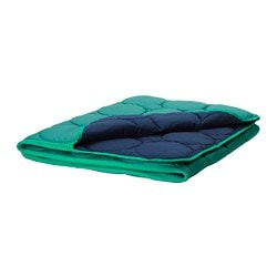IKEA PS 2017 sleeping bag, green, dark blue Length: 200 cm Width: 160 cm Filling weight: 480 g