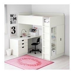 Kinderhochbett ikea  STUVA Loft bed with 3 drawers/2 doors, white - Twin - IKEA