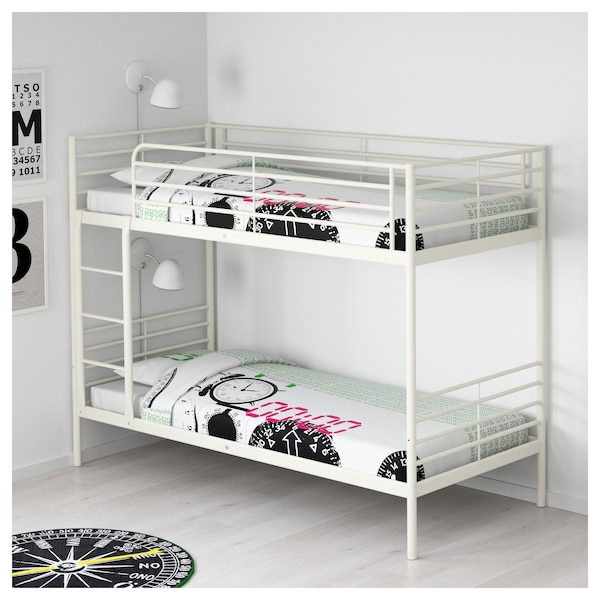 sv rta struttura per letto a castello bianco ikea. Black Bedroom Furniture Sets. Home Design Ideas