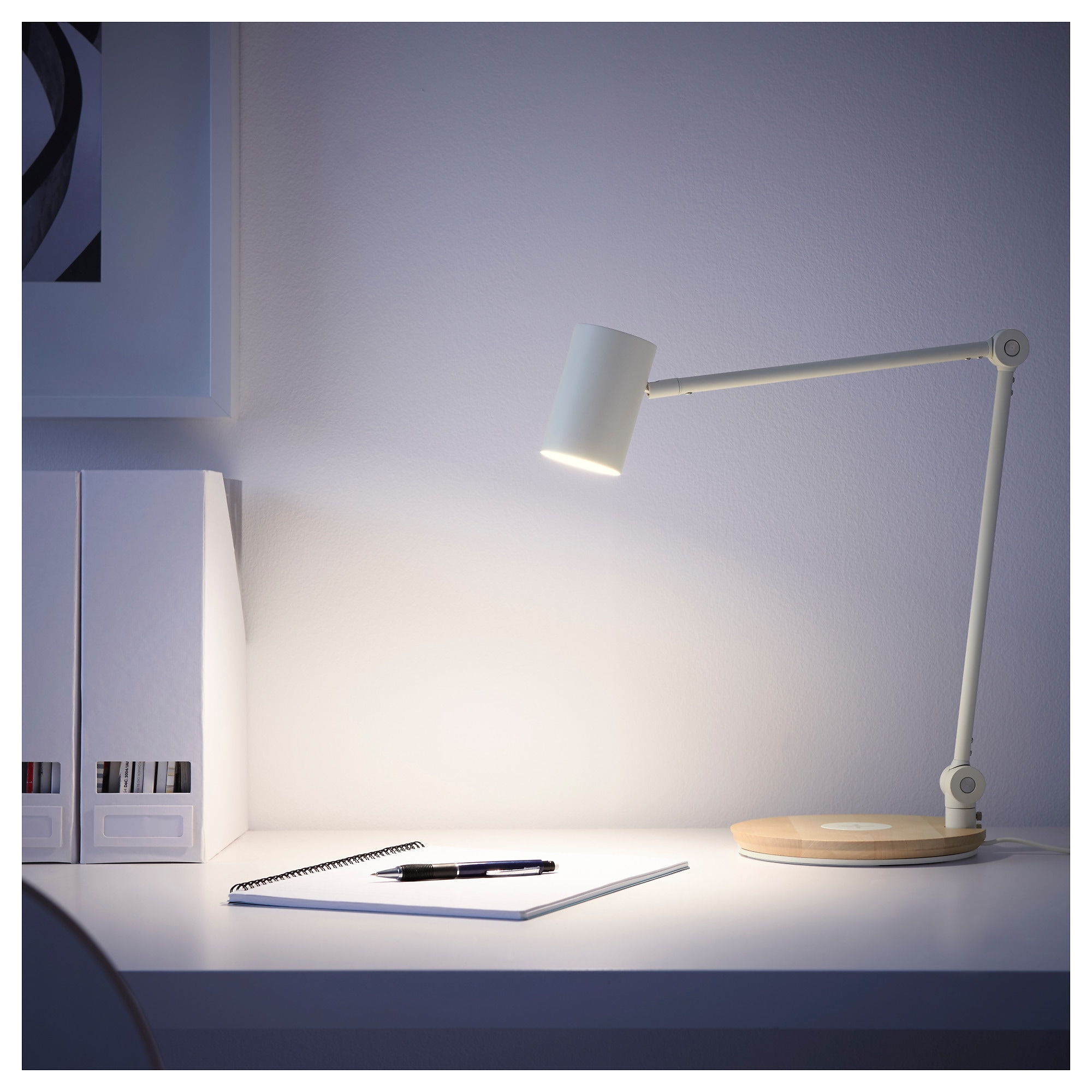 Riggad led work lamp wwireless charging ikea aloadofball