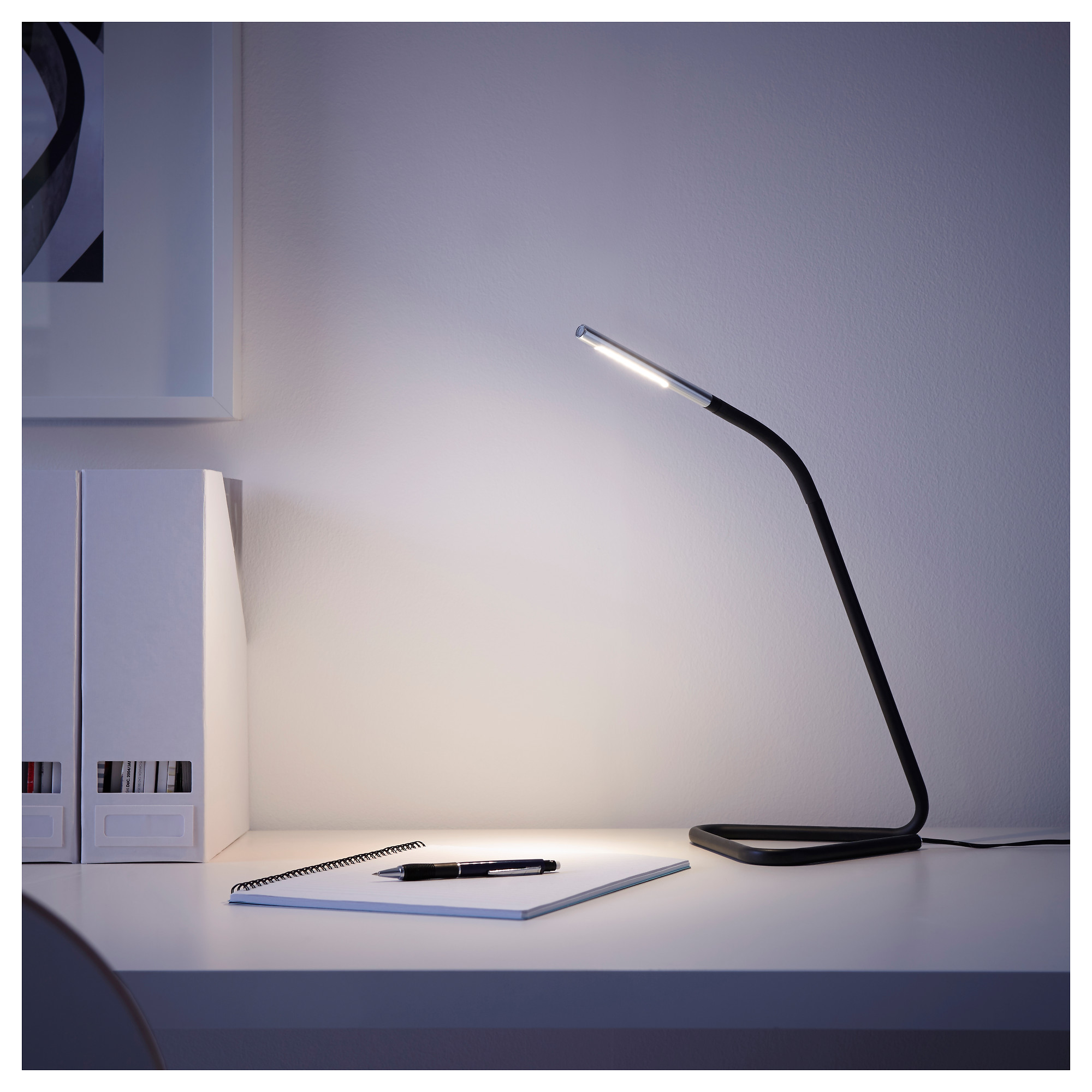 HÅRTE LED Work Lamp   Black/silver Color   IKEA