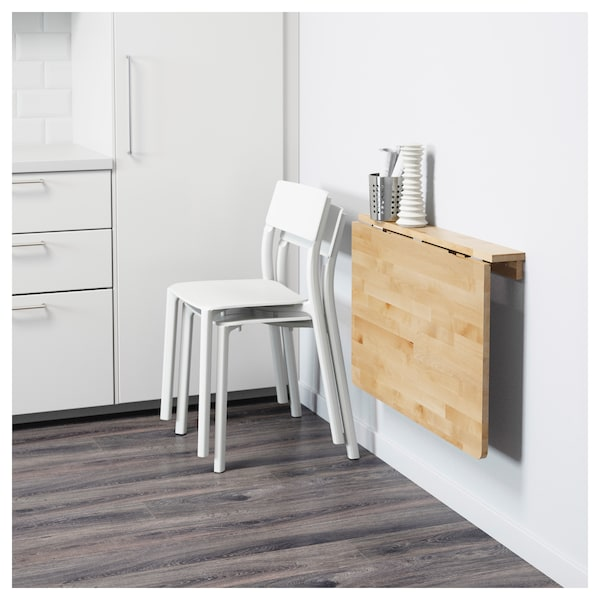 NORBO Mesa plegable de pared - abedul - IKEA®