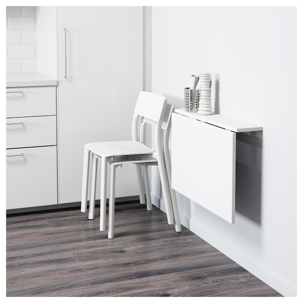 NORBERG Mesa plegable de pared - blanco - IKEA
