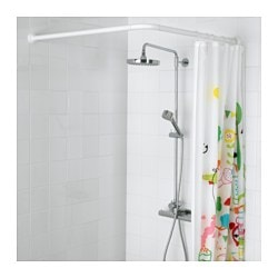 VIKARN Shower Curtain Rod White