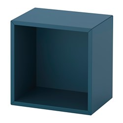 EKET wall-mounted shelving unit, dark blue