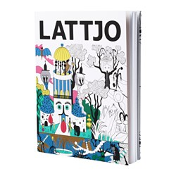 "LATTJO activity book, orange Pages: 96 pieces Width: 7 ¼ "" Height: 9 ½ "" Pages: 96 pieces Width: 18.3 cm Height: 24.0 cm"