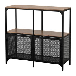 FJÄLLBO shelving unit, black