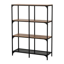 FJÄLLBO Shelf Unit, Black Width: 39 3/8  Part 49