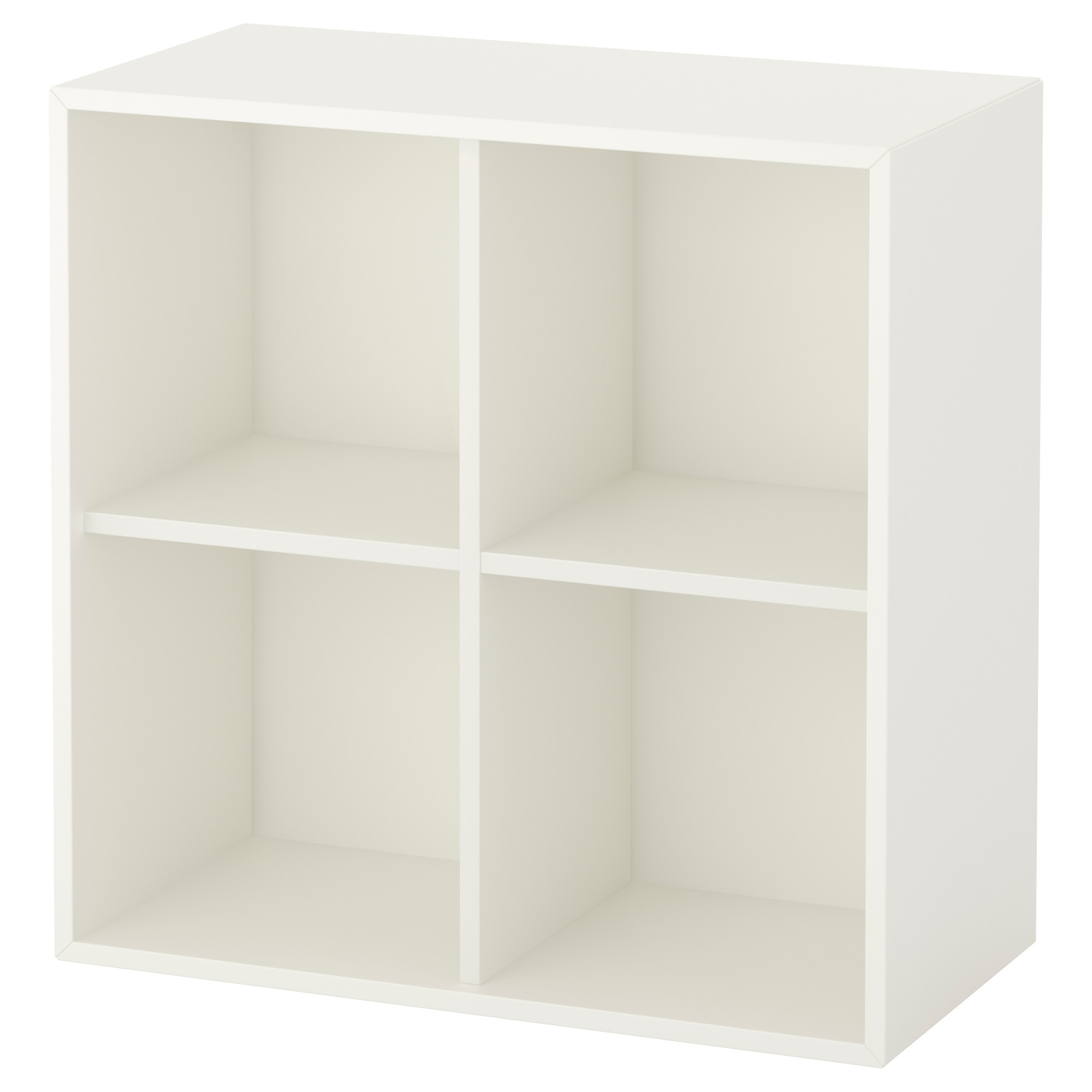 EKET cabinet with 4 compartments, white Width: 27 1/2